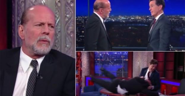 """Bruce Willis aggredisce un presentatore tv. """"Ormai sei vecchio"""""""