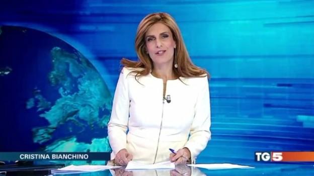 Lieve malore in tv per la conduttrice del Tg5 Cristina Bianchino